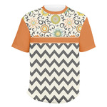 Swirls, Floral & Chevron Men's Crew T-Shirt (Personalized)