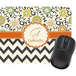 Swirls, Floral & Chevron Mouse Pad (Personalized)