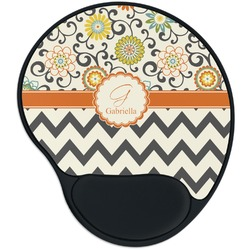 Swirls, Floral & Chevron Mouse Pad with Wrist Support