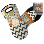 Swirls, Floral & Chevron Neoprene Oven Mitt (Personalized)