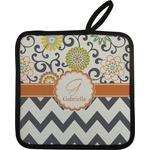Swirls, Floral & Chevron Pot Holder (Personalized)