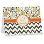Swirls, Floral & Chevron Note cards (Personalized)