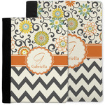 Swirls, Floral & Chevron Notebook Padfolio w/ Name and Initial