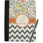 Swirls, Floral & Chevron Notebook Padfolio (Personalized)
