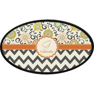 Swirls, Floral & Chevron Oval Trailer Hitch Cover (Personalized)
