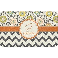 Swirls, Floral & Chevron Bath Mat (Personalized)