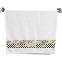 Swirls, Floral & Chevron Bath Towel (Personalized)