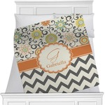 Swirls, Floral & Chevron Minky Blanket (Personalized)