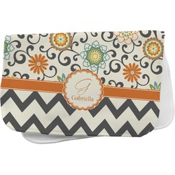 Swirls, Floral & Chevron Burp Cloth (Personalized)