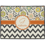 Swirls, Floral & Chevron Door Mat (Personalized)