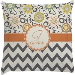 Swirls, Floral & Chevron Euro Sham Pillow Case (Personalized)