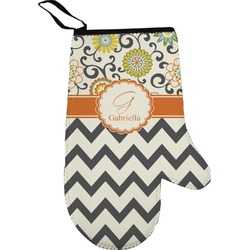 Swirls, Floral & Chevron Right Oven Mitt (Personalized)