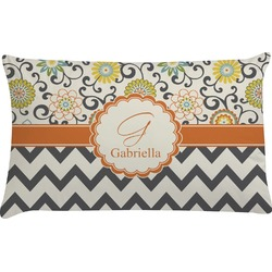 Swirls, Floral & Chevron Pillow Case (Personalized)
