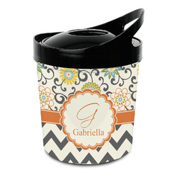 Swirls, Floral & Chevron Plastic Ice Bucket (Personalized)