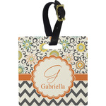 Swirls, Floral & Chevron Luggage Tags (Personalized)