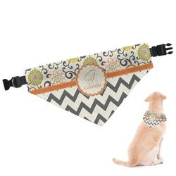 Swirls, Floral & Chevron Dog Bandana (Personalized)