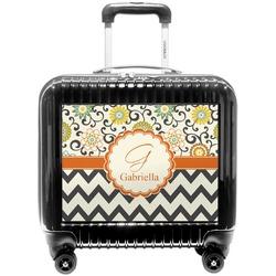 Swirls, Floral & Chevron Pilot / Flight Suitcase (Personalized)
