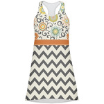 Swirls, Floral & Chevron Racerback Dress (Personalized)