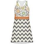 Swirls, Floral & Chevron Racerback Dress (Personalized)