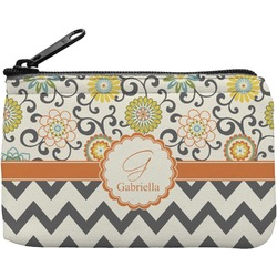 Swirls, Floral & Chevron Rectangular Coin Purse (Personalized)