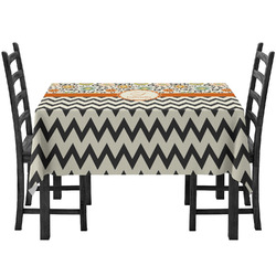 Swirls, Floral & Chevron Tablecloth (Personalized)