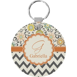 Swirls, Floral & Chevron Keychains - FRP (Personalized)