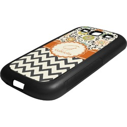 Swirls, Floral & Chevron Rubber Samsung Galaxy 3 Phone Case (Personalized)