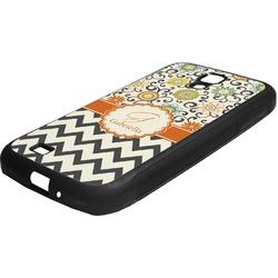 Swirls, Floral & Chevron Rubber Samsung Galaxy 4 Phone Case (Personalized)