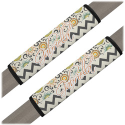 Swirls, Floral & Chevron Seat Belt Covers (Set of 2) (Personalized)