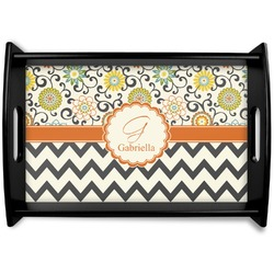 Swirls, Floral & Chevron Wooden Trays (Personalized)