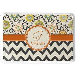 Swirls, Floral & Chevron Serving Tray (Personalized)