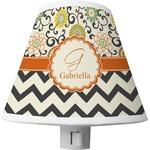 Swirls, Floral & Chevron Shade Night Light (Personalized)