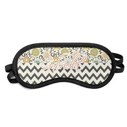 Swirls, Floral & Chevron Sleeping Eye Mask (Personalized)