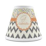 Swirls, Floral & Chevron Chandelier Lamp Shade (Personalized)