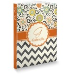Swirls, Floral & Chevron Softbound Notebook (Personalized)