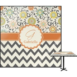 Swirls, Floral & Chevron Square Table Top (Personalized)