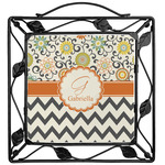 Swirls, Floral & Chevron Trivet (Personalized)