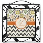 Swirls, Floral & Chevron Trivet (Personalized)