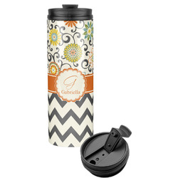 Swirls, Floral & Chevron Stainless Steel Tumbler (Personalized)