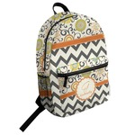 Swirls, Floral & Chevron Student Backpack (Personalized)
