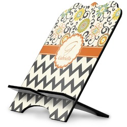 Swirls, Floral & Chevron Stylized Tablet Stand (Personalized)