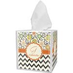 Swirls, Floral & Chevron Tissue Box Cover (Personalized)