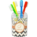 Swirls, Floral & Chevron Toothbrush Holder (Personalized)