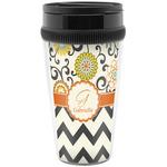 Swirls, Floral & Chevron Travel Mugs (Personalized)