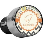 Swirls, Floral & Chevron USB Car Charger (Personalized)
