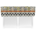Swirls, Floral & Chevron Valance (Personalized)