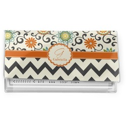 Swirls, Floral & Chevron Vinyl Checkbook Cover (Personalized)