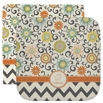 Swirls, Floral & Chevron Facecloth / Wash Cloth (Personalized)