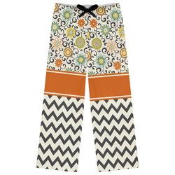 Swirls, Floral & Chevron Womens Pajama Pants (Personalized)