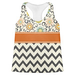 Swirls, Floral & Chevron Womens Racerback Tank Top (Personalized)